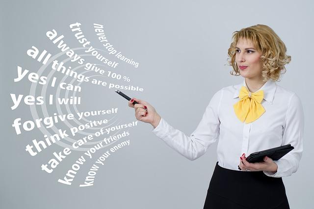 podnikatelka a prezentace