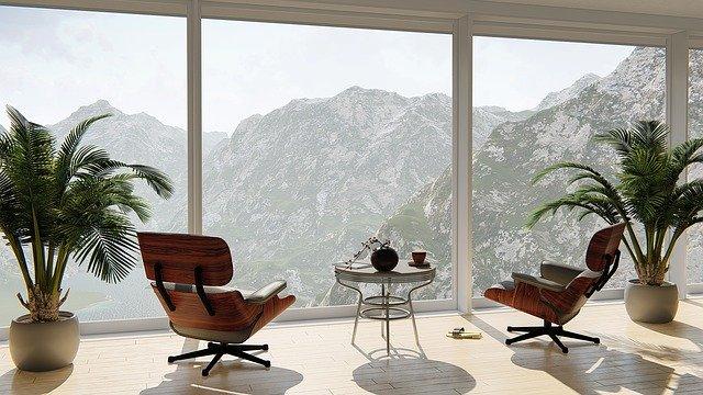 byt výhled na hory